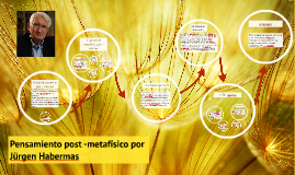 Pensamiento post -metafísico por Jürgen Habermas
