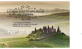 Copy of LA REALIDAD PRURILINGÜE DE ESPAÑA