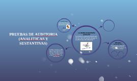 PRUEBAS DE AUDITORIA (ANALITICAS Y SUSTANTIVAS)