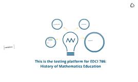 Test Platform for EDCI 786