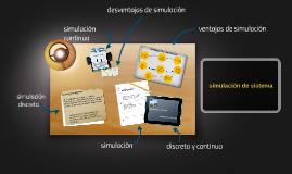 simulación de sistema
