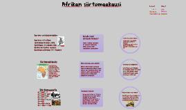 Afrikan siirtomaakausi
