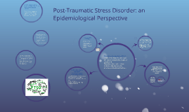 Post-Traumatic Stress Disorder: An Epidemiological Perspecti