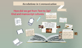 Technology and the changing nature of texts: 1