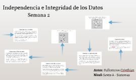 Independecia de Datos