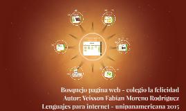 Bosquejo pagina web - colegio la felicidad