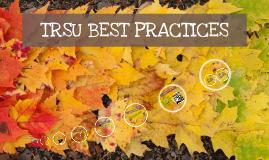 TRSU BEST PRACTICES