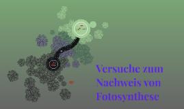 Versuche zum Nachweis von Fotosynthese