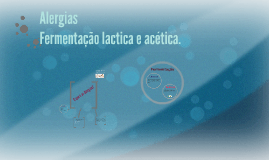 Alergias e fementação lactica e acética.
