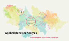 Copy of Applied Behavior Analysis with Discrete Trial Training