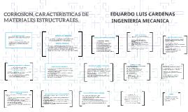 CORROSION, CARACTERISTICAS DE MATERIALES ESTRUCTURALES.
