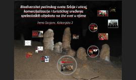 Copy of Biodiverzitet pećinskog sveta Srbije i uticaj komercijalizacije i turističkog uređenja speleoloških objekata na živi svet u njima