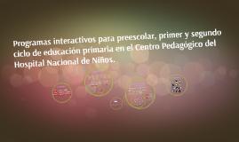 Programas interactivos para preescolar, primer y segundo cic