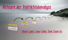 Akteure in der Politikfeldanalyse