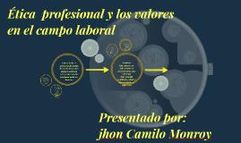 Etica profesional y los valores en el campo laboral