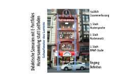 Copy of Didaktische Szenarien mit E-Portfolios gestalten: Mustersammlung statt Leitfaden