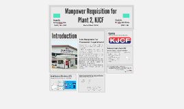 Manpower Requisition for Plant 2, KJCF