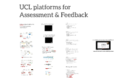 Assessment feedback online - UCL TAP Session 4