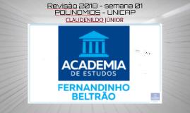 POLINÔMIOS REVISÃO UNICAP 2018 - AULA 01