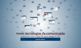 novas tecnologias de comunicação