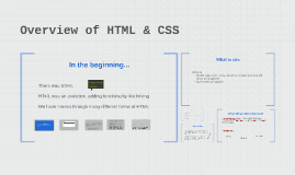 Overview of HTML & CSS