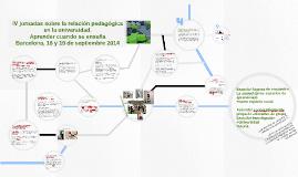 IV jornadas sobre La relación pedagógica en la universidad.