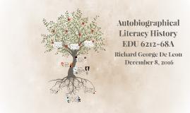 R De Leon - Autobiographical Literacy History
