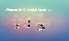 Women in Colonial America