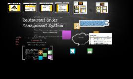 Copy of Restaurant Order Managementsystem