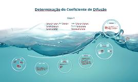 Determinação do Coeficiente de Difusão