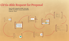 Ch'tis-Able Request for Proposal