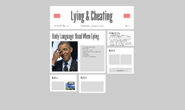 Lying & Cheating