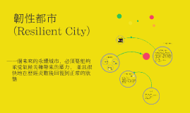 Copy of 韌性都市(Resilient City)