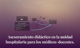 Asesoramiento didáctico en la unidad hospitalaria para los m