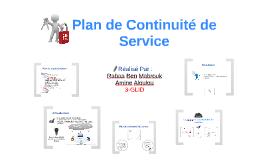Plan de continuité de Service