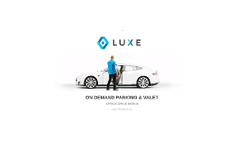 On Demand Parking & Valet