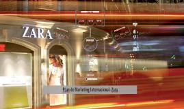 PLan de Marketing Internacional- Zara
