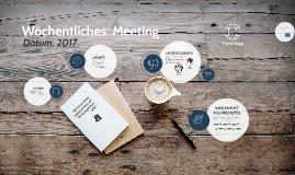 Wöchentliches Meeting VORLAGE