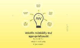 Copy of Website Reliability Prezi