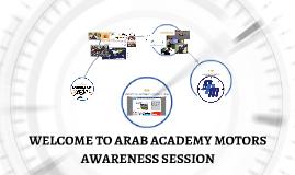 WELCOME TO ARAB ACADEMY MOTORS