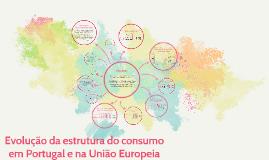 Copy of Evolução da estrutura do consumo em Portugal e na União Euro