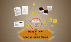 Mapp v. Ohio and Leon v. United States