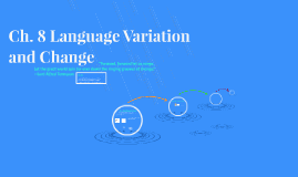 Ch. 8 Language Variation and Change