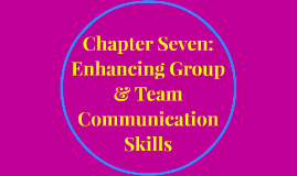Copy of Chapter Seven: Enhancing Group & Team Communication Skills