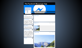 The Facebook Messenger App