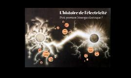 L'histoire de l'électricité