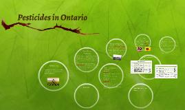 Pesticides in Ontario