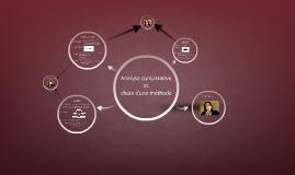 Copy of Analyse comparative et choix d'une méthode