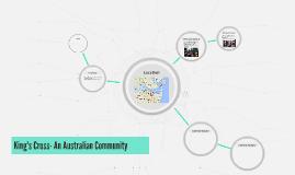 King's Cross- An Australian Community