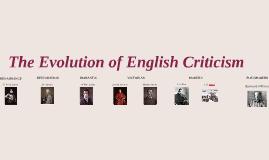 The Evolution of English Criticism